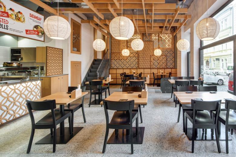 Návrh interiéru sushi bistra