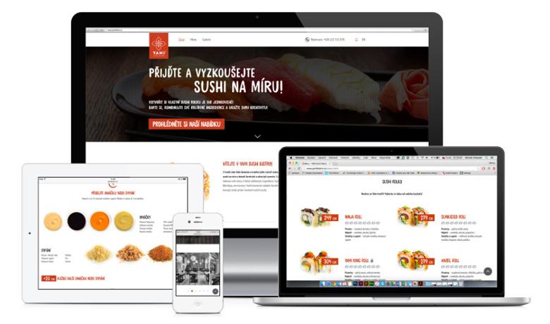 Návrh vizuální identity pro Yami sushi bistro