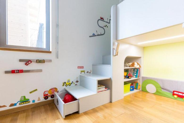 Návrh úložného prostoru v dětském pokoji