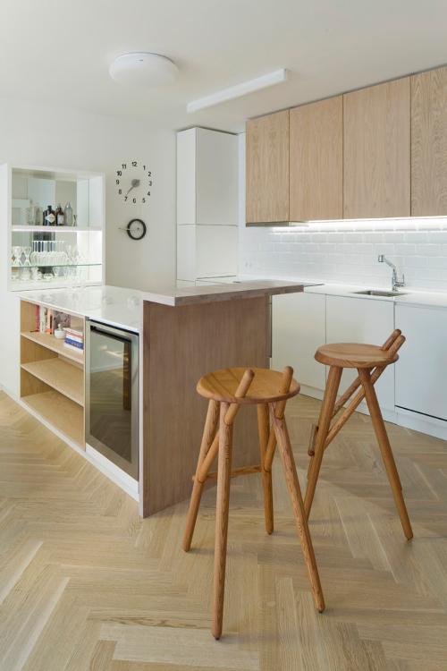 Návrh interiéru bytu s českým designem - židle Lugi