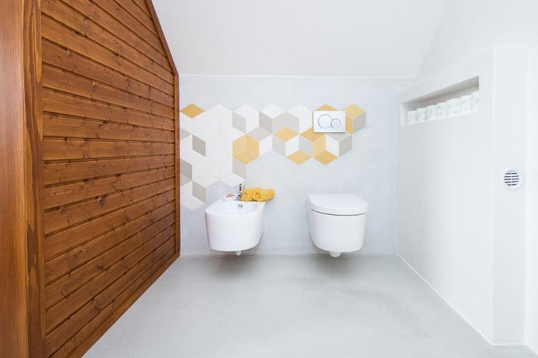 Návrh luxusní koupelny - wc a bidet