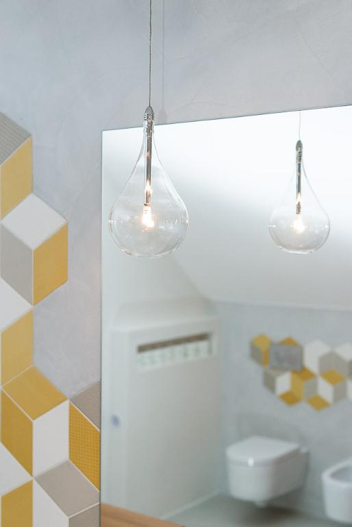 Návrh luxusní koupelny - svítidlo