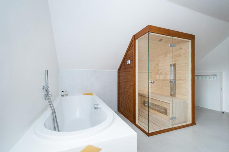 Návrh luxusní koupelny - vana