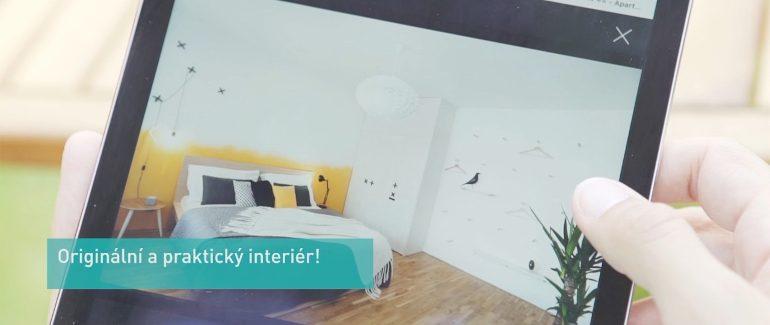 Návrh interiéru bytu na pronájem, ložnice, airbnb