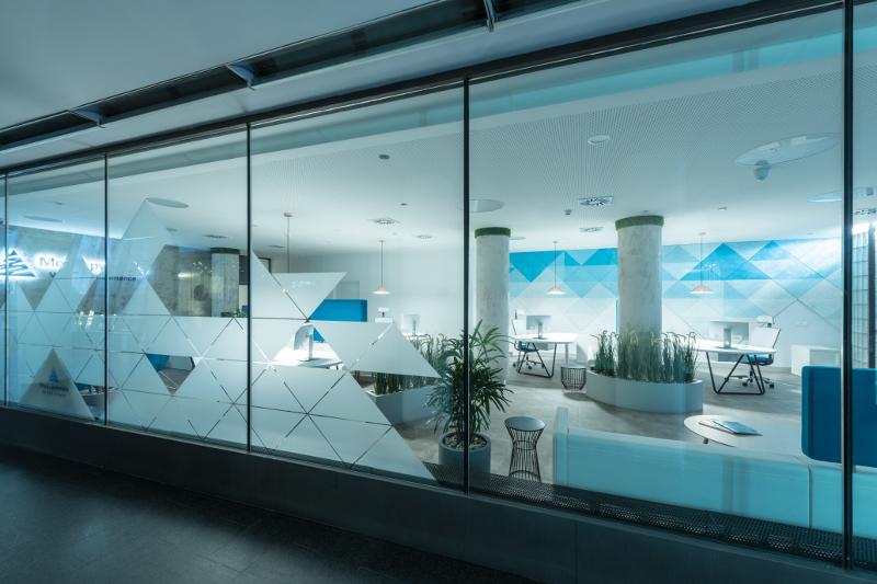 Návrh firemního interiéru, design pobočky, firemní identita
